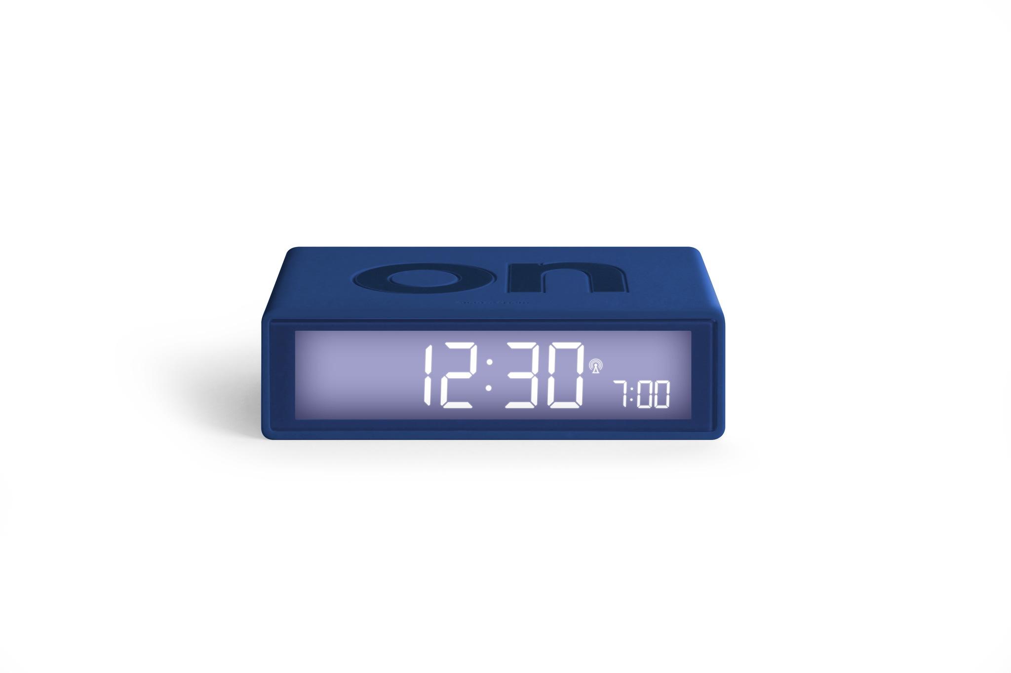 dunkelblau, funkgesteuert, LCD Display, snooze