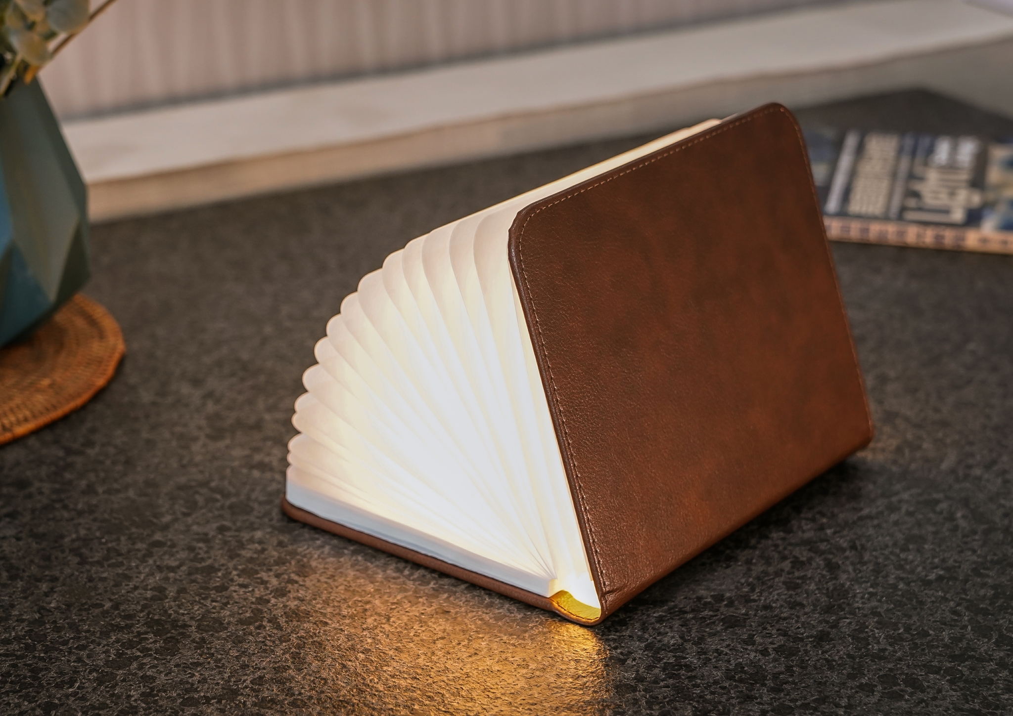 Leather brown klein, inkl. USB Ladekabel, warmes L