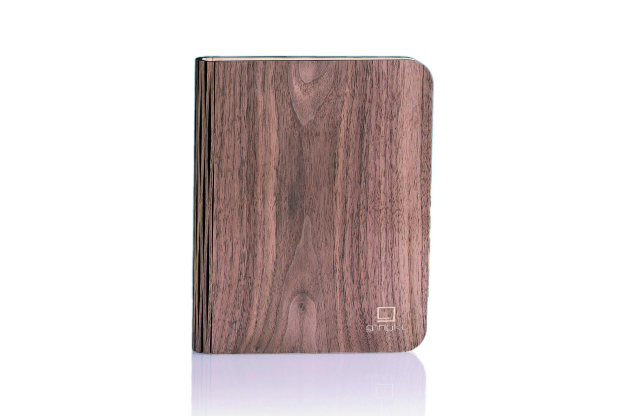 Wood walnut gross, inkl. USB Ladekabel, warmes lic