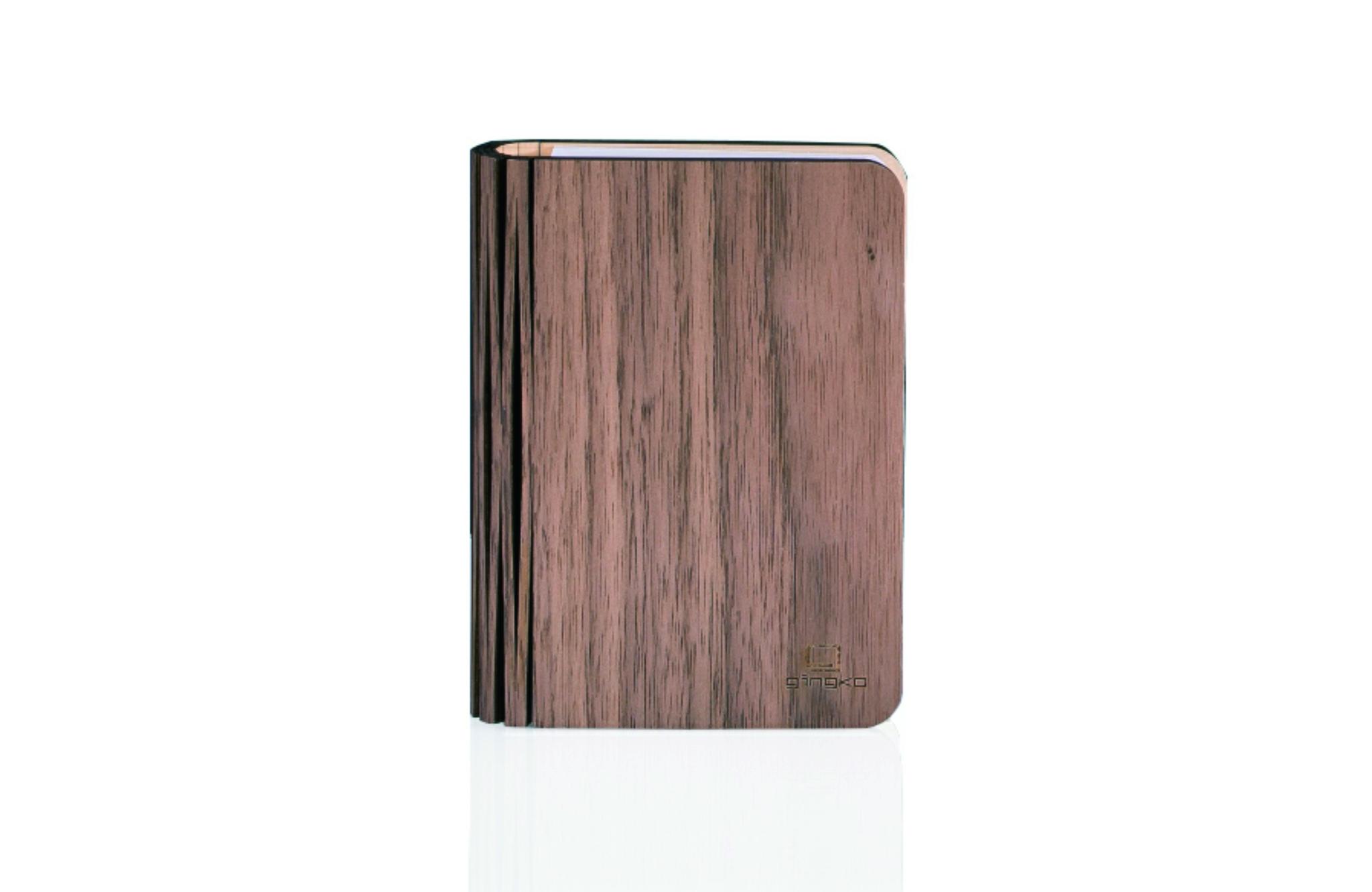 Wood walnut klein, inkl. USB Ladekabel, warmes Lic