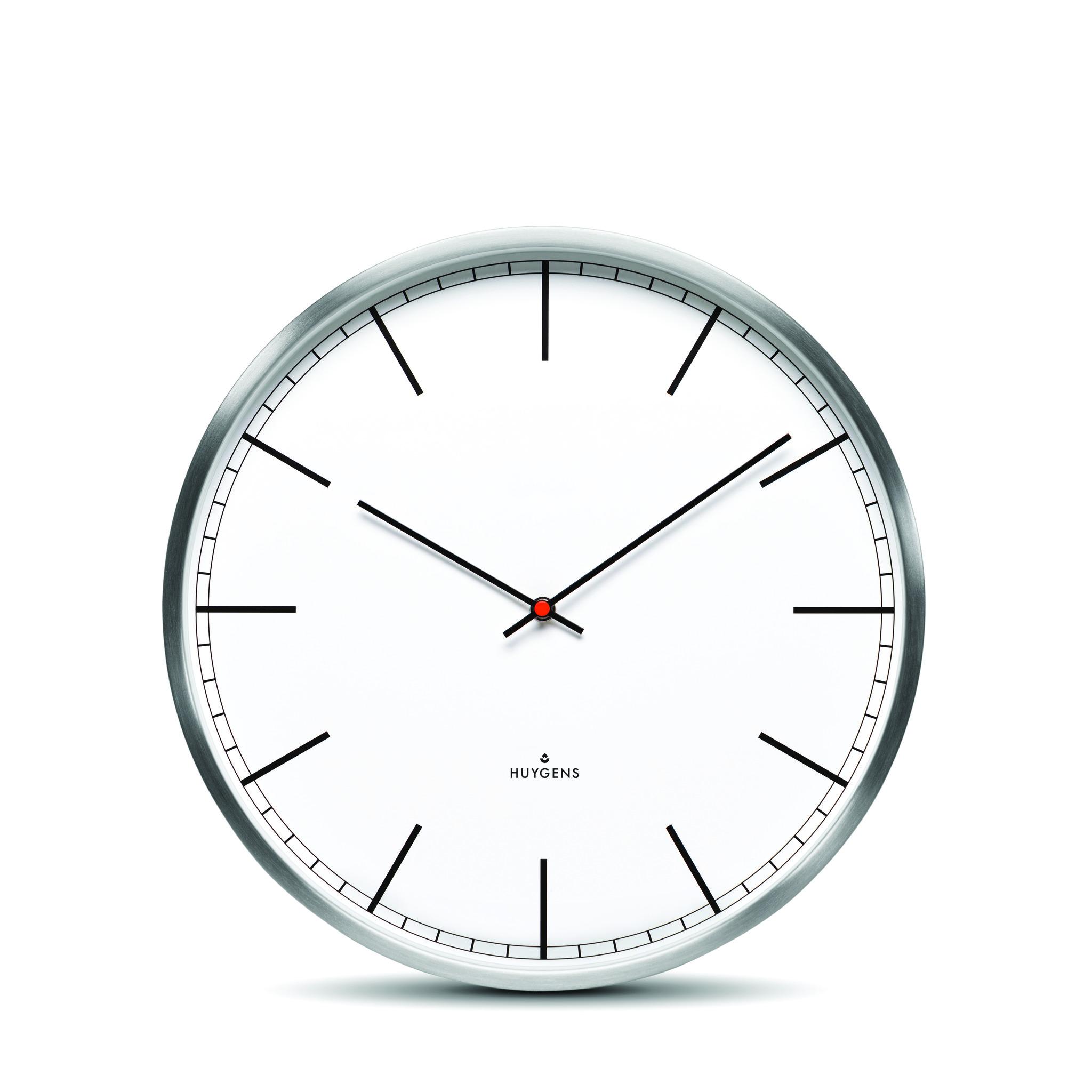 White, indizes Zifferblatt, klein 25cm