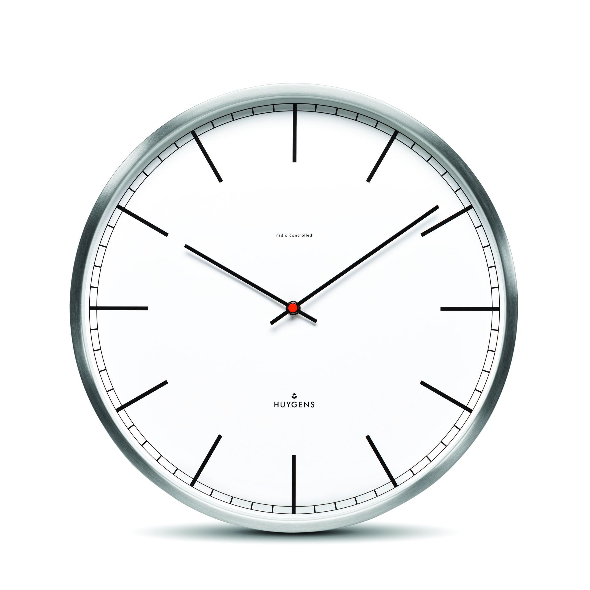 White, indizes Zifferblatt, Funk, mittel 35cm