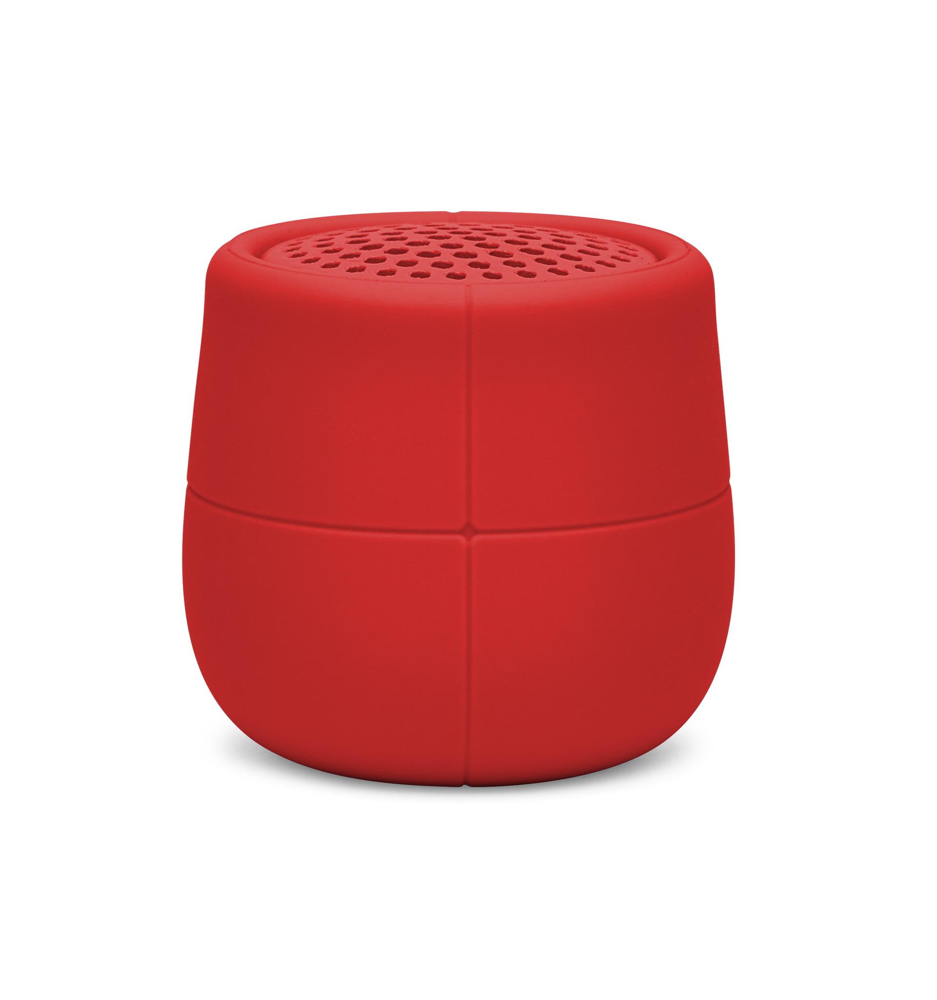 mini bluetooth-speaker 3W, rot / ABS / wasserreste