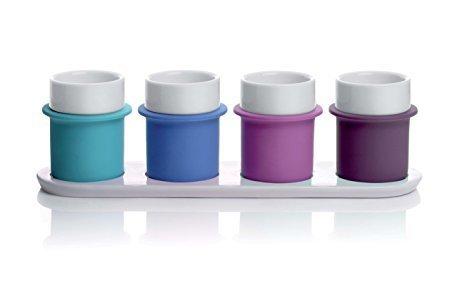 große Tassen, Graduierung blau, kalte Farben