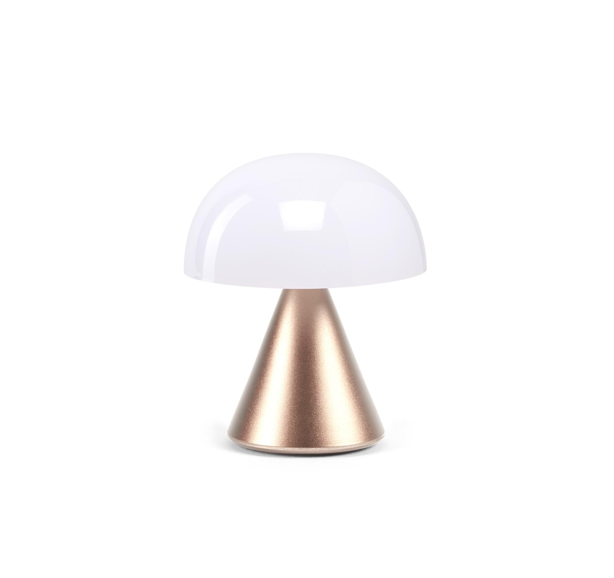 Mini-LED-Lampe, Soft-Gold / Aluminium / 6h Autonom