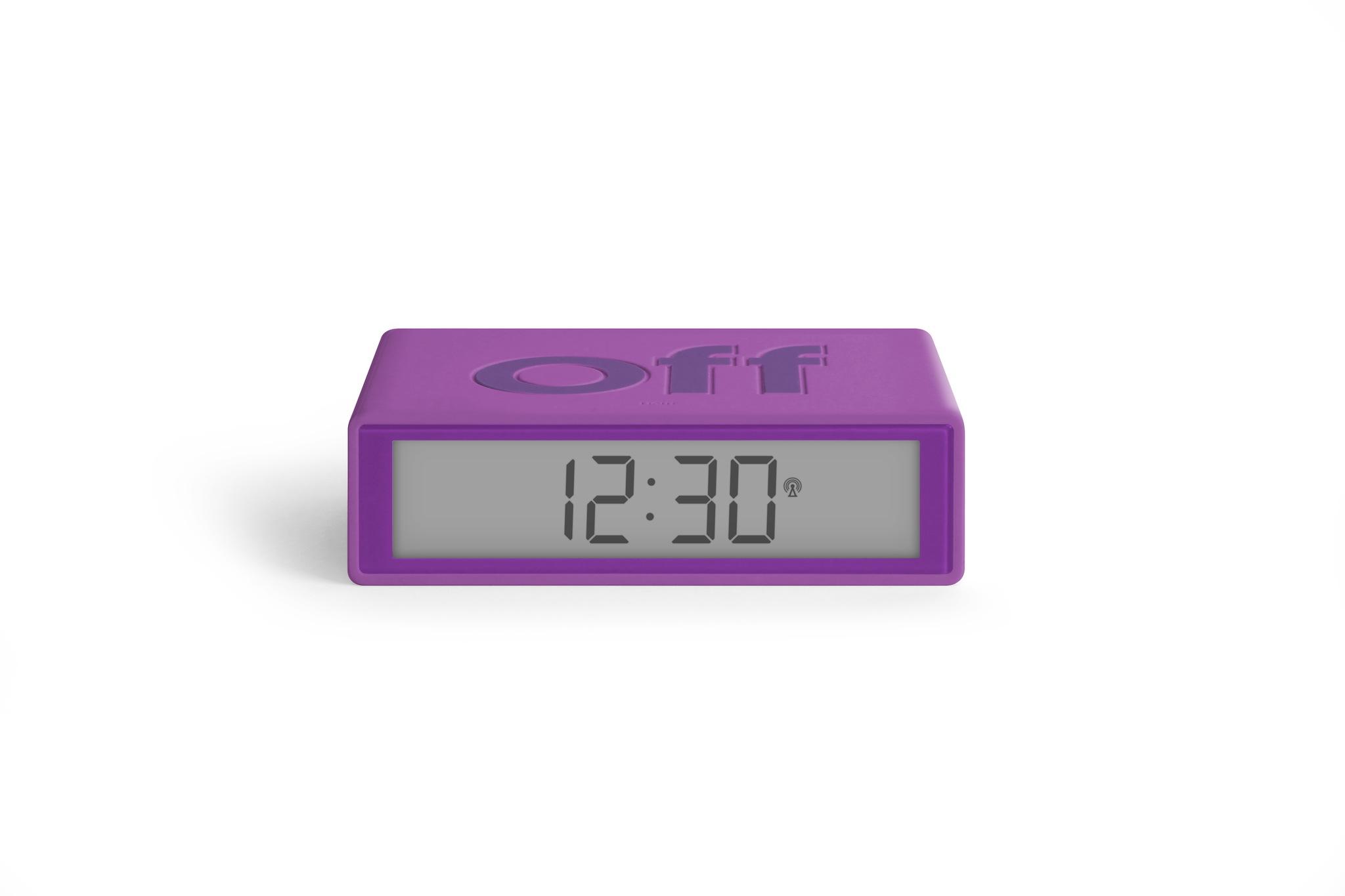 violett, funkgesteuert, LCD Display, snooze