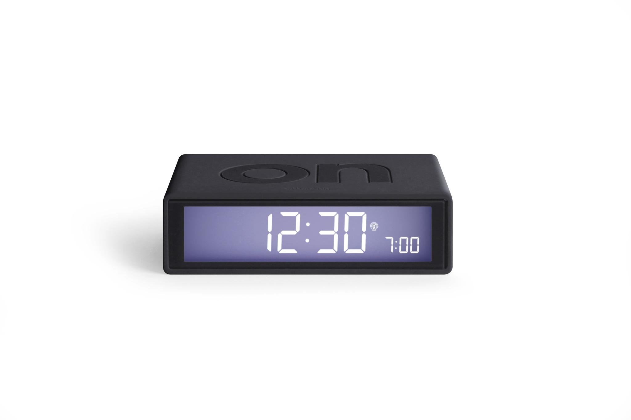 dunkelgrau, funkgesteuert, LCD Display, snooze