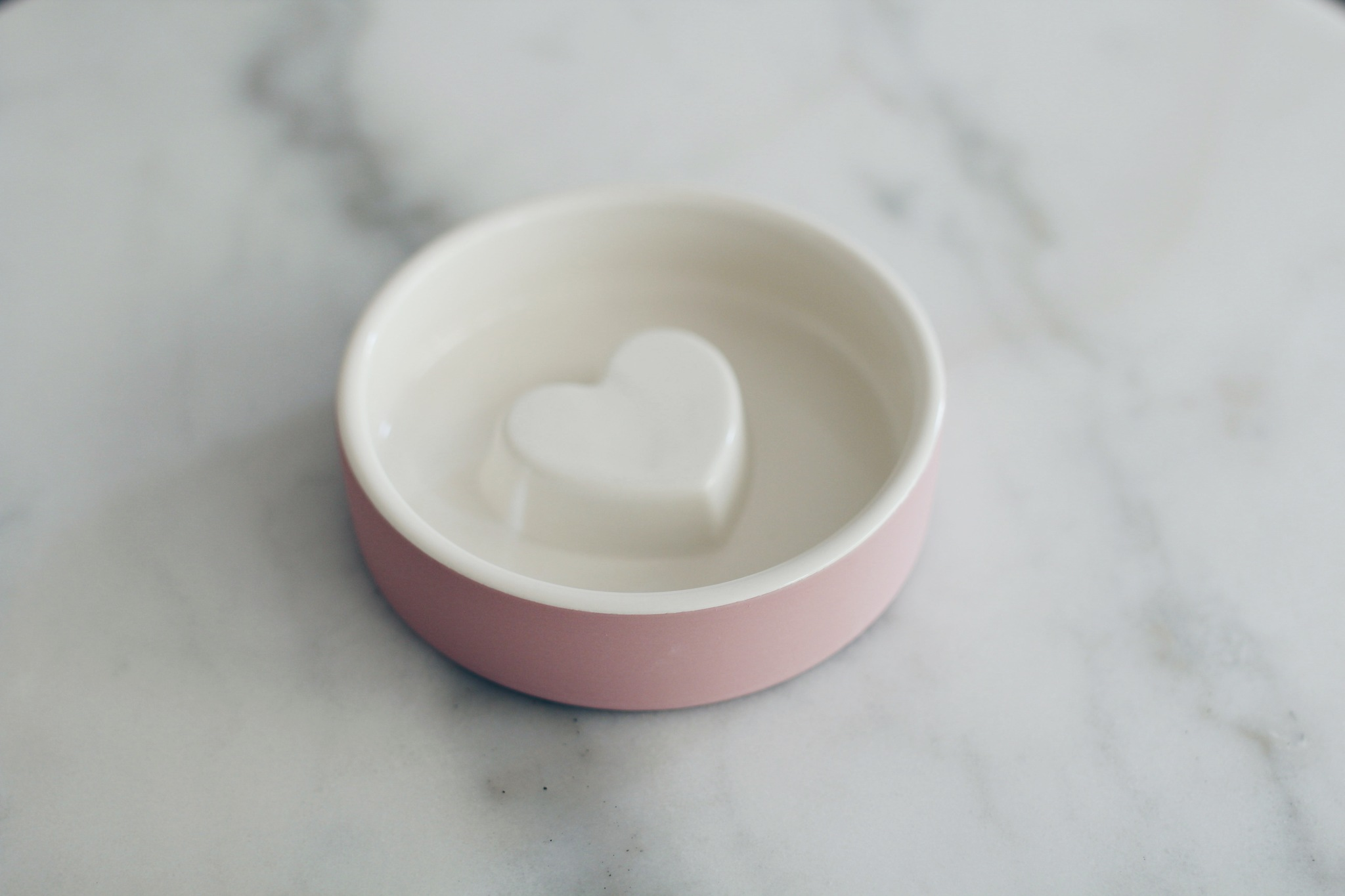 Heart, 12 cm, small, terracotta, pink