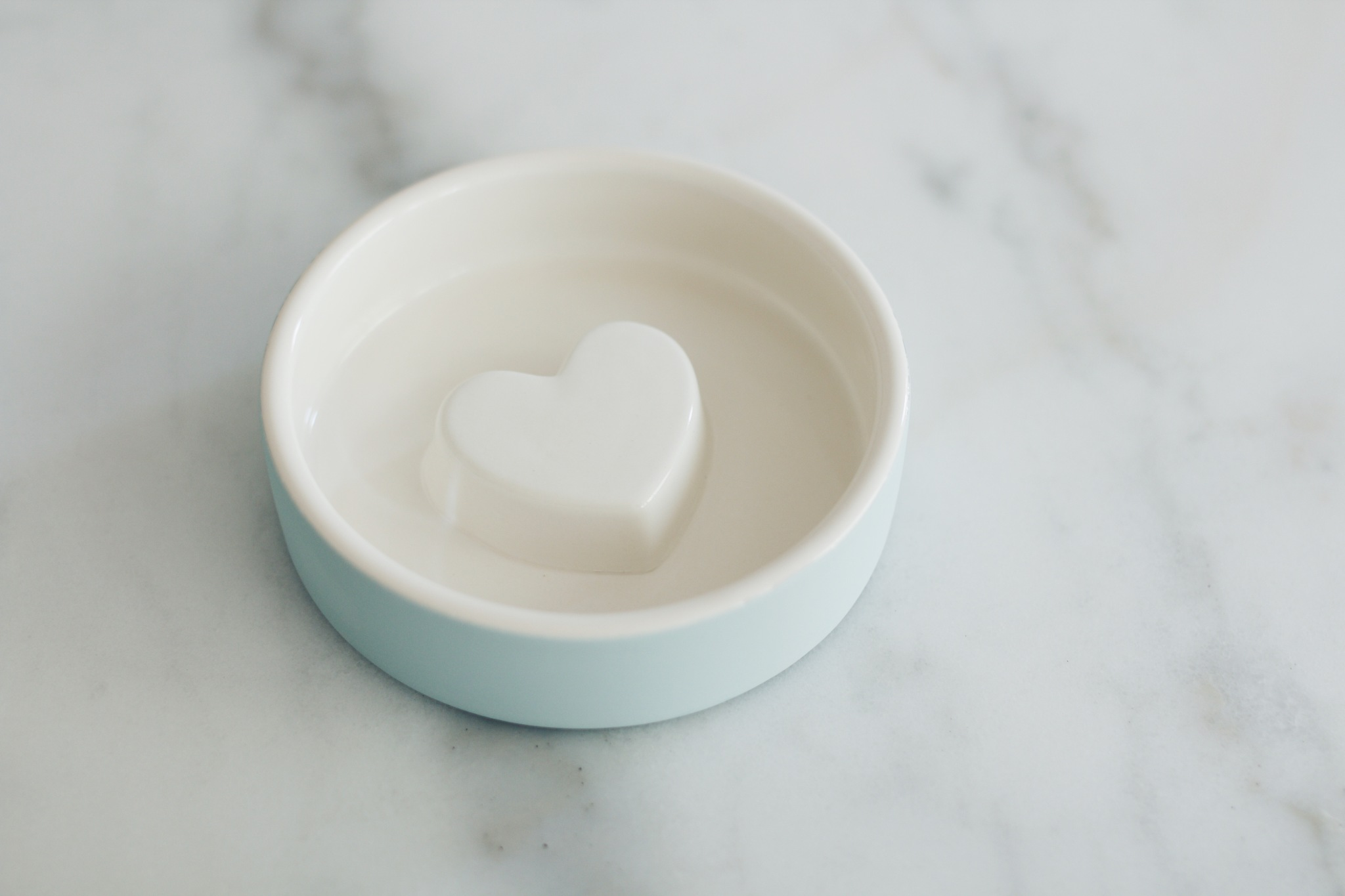 Heart, 12 cm, small, terracotta / blue