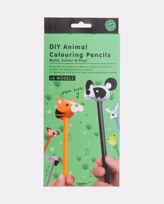 DIY Animal Colouring Pencils