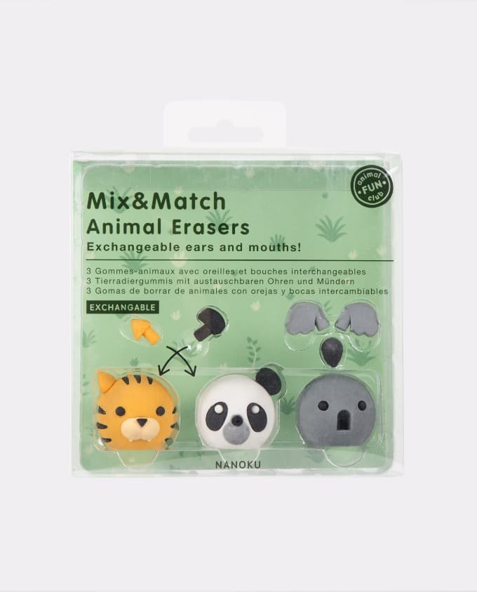 Mix & Match Animal Erasers