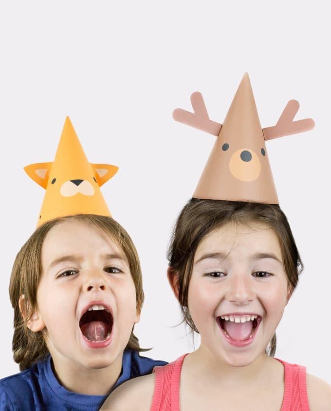 DIY Animal Party Hats / Partyhüte