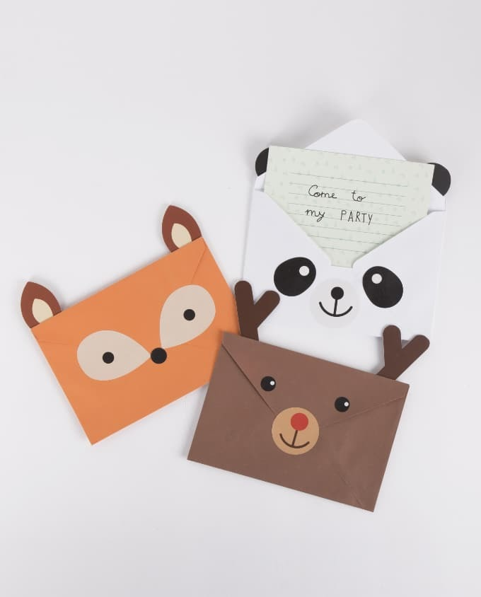 DIY Animal Party Invitations / Einladungskarten