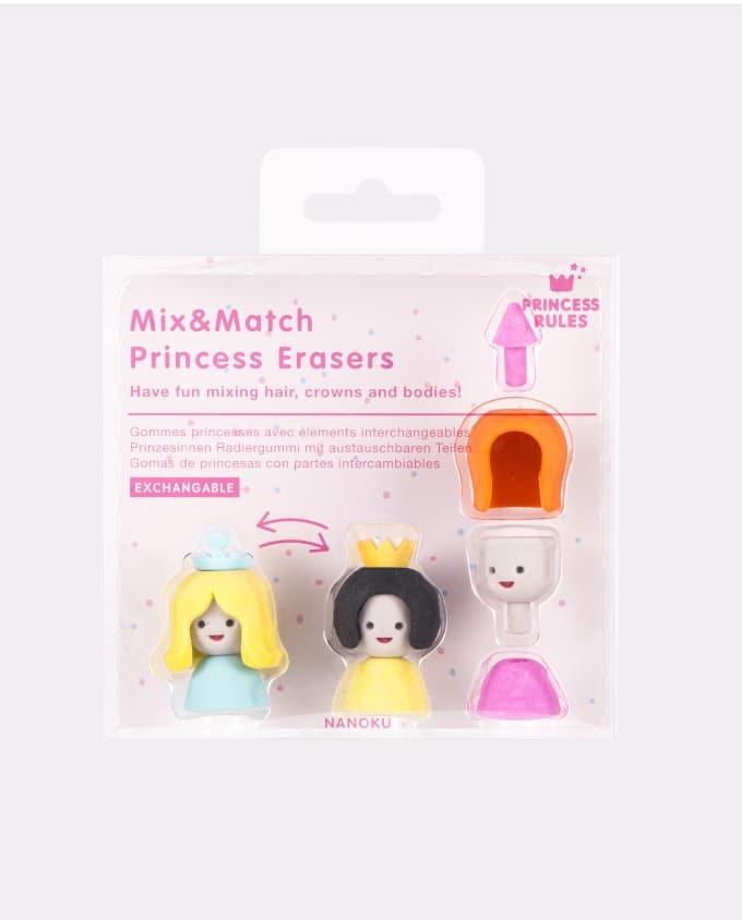 Mix & Match Princess Erasers