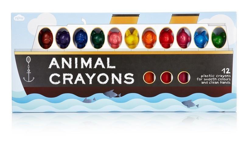 Animal Crayons Schiff - 12er Pack