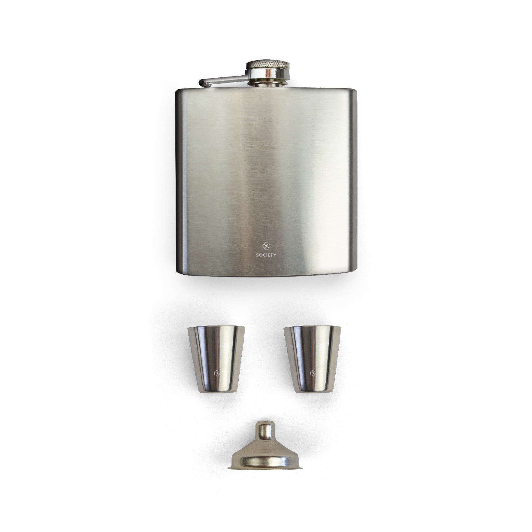 Society Paris - Stainless Steel Flask and Shotglass Set