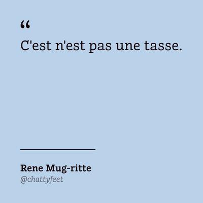 René Mug-Ritte - Tasse