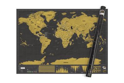 Scratch Map Deluxe XL - Landkarte zum Rubbeln Deluxe XL
