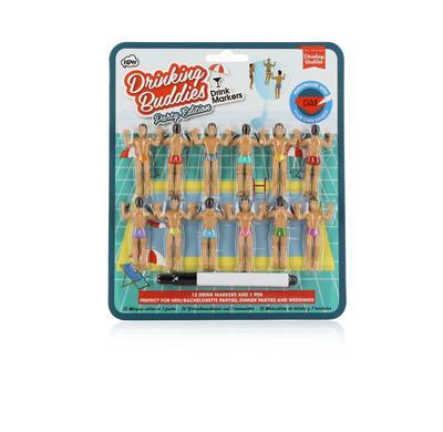 Drinking Buddies Bumper Pack - Glasmarkierer Schwimmer 12er