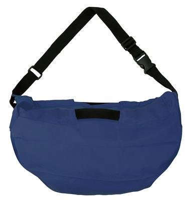 Compact 2 Way Shoulderbag - NAVY -  Faltbare Schultertasche One-Pull (patentiert)