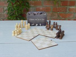 Gift in a Tin - Schach Set - Geschenkbox
