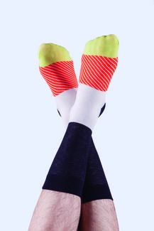 Maki Socks Salmon - Motivsocken