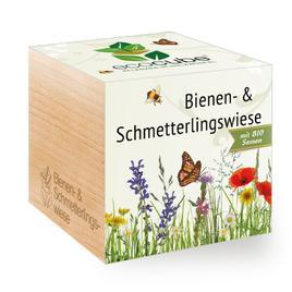 Ecocube Bienen- und Schmetterlingswiese - Pflanzen im Holzwürfel
