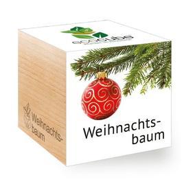 Ecocube Weihnachtsbaum - Pflanzen im Holzwürfel