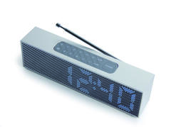 TITANIUM LED CLOCK RADIO - Radiowecker