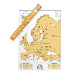 Scratch Map - Europakarte zum Rubbeln
